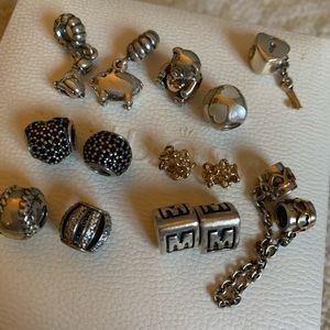 Auth pre-owned Pandora bracelets and charms